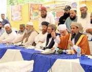 لاہور: جمعیت علماء اسلام (س) کے سربراہ مولانا حامد الحق پارٹی کے اجلاس ..