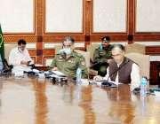 لاہور: وزیرقانون راجہ بشارت سول سیکرٹریٹ میں گوجرانوالہ ڈویژن کی امن ..
