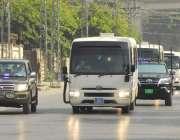 راولپنڈی، پاکستان اور زمبابوے کی کرکٹ ٹیموں کو فل پروف سیکورٹی میں ..