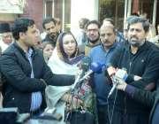 لاہور:صوبائی وزیر اطلاعات فیاض الحسن چوہان لاہور پریس کلب کے دورہ کے ..