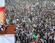 سوات، وزیراعلی خیبرپختونخوا محمود خان سیدوشریف میں جلسہ عام سے خطاب ..