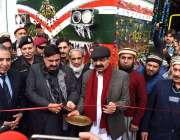 رسالپور: وفاقی وزیر ریلوے شیخ رشید احمد پاکستان ریلوے لوکوموٹو فیکٹری ..