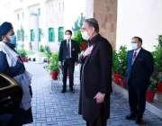 اسلام آباد، وزیر خارجہ شاہ محمود قریشی پاکستان کے دو روزہ دورے پر آئے ..
