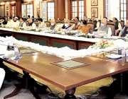 لاہور: وزیراعلی پنجاب سردار عثمان بزدار پنجاب کابینہ کے 35 ویں اجلاس ..