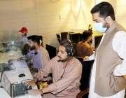 صوبائی وزیر داخلہ میر ضیاء اللہ لانگو کو پی ڈی ایم اے کنٹرول روم کے ..