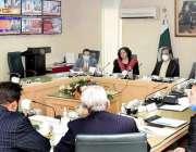 اسلام آباد، وزیر اطلاعات و نشریات سینیٹر شبلی فراز سے پاکستان فلم پروڈیوسر ..