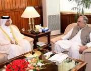 اسلام آباد : سپیکر قومی اسمبلی اسد قیصر سے قطر کے سفیر شیخ سعود بن عبدالرحمن ..