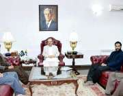 اسلام آباد :صدر آزادکشمیر سردار مسعودخان سے سیکرٹری جنرل عدنان حنیف ..