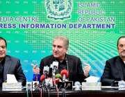 اسلام آباد، وفاقی وزیر خارجہ شاہ محمود قریشی و وزیر اطلاعات سینیٹر ..