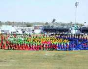 سبی: سبی میلہ کی افتتاحی تقریب کے دوران مختلف اسکولوں کے بچے