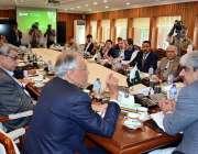 کراچی: چیئرمین ، قومی اسمبلی کی قائمہ کمیٹی برائے خزانہ فیض اللہ نیشنل ..