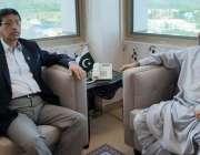 اسلام آباد :صوبائی وزیر داخلہ میر ضیاء الد لانگو وفاقی وزیرآئی ٹی و ..
