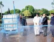 پاکستان زرئی تحقیقاتی کونسل کے چیئر مین ڈاکٹر محمدعظیم خان زرعی یونیورٹی ..