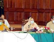 لاہور : صوبائی وزیر صحت ڈاکٹریاسمین راشد ایوان وزیراعلی میں پریس کانفرنس ..