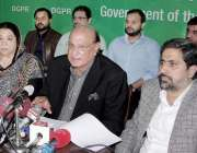 لاہور : صوبائی وزیرقانون راجہ بشارت، وزیر صحت ڈاکٹر یاسمین راشد اور ..