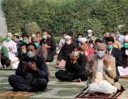 لاہور، گورنر پنجاب چوہدری محمد سرور اور دیگر کوروناء سے بچائو کیلئے ..