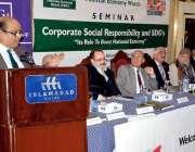 اسلام آباد: پاکستان اکانومی واچ کے زیراہتمام منعقدہ سیمینار سے ڈاکٹر ..