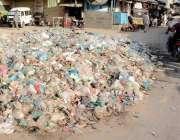 کراچی: کورنگی کچرا گوٹھ میں جمع کچرے کے ڈھیر متعلقہ اداروں کی غفلت کا ..