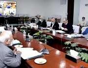 اسلام آباد، مشیر خزانہ عبدالحفیظ شیخ قومی اقتصادی کمیٹی کے اجلاس کی ..