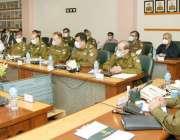 لا ہور: آئی جی پنجاب شعیب دستگیر سنٹرل پولیس آفس میں ایگزیکٹو بورڈ کے ..