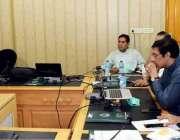 لاہور: ڈائریکٹرایڈمن جاوید چوہان نیشنل ہاکی اسٹیڈیم میں ڈائریکٹوریٹ ..