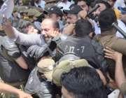 لاہور: پاکستان مسلم لیگ (ن) کے صدرمحمد شہباز شریف اور پنجاب اسمبلی میں ..