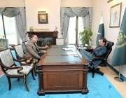 اسلام آباد: گورنر سندھ عمران اسماعیل نے وزیر اعظم عمران خان سے وزیر ..