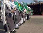 اسلام آباد: یوم یکجہتی کشمیر کے موقع پر ریلی میں شریک طلباء کا آغاز ..