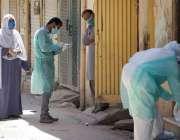 اسلام آباد، ترمری میں کورونا وائرس کی تصدیق کے بعد علاقہ میں محکمہ ..