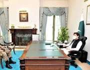 اسلام آباد: وزیراعظم عمران خان سے ڈائریکٹر جنزل، اسٹریٹجک پلانز ڈویژن ..