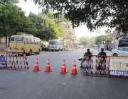 کراچی: سندھ گورنمنٹ کی جانب سے کور ونا وائرس کے پھیلاو کوروکنے کے لیے ..