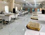 پشاور، سینٹرل جیل پشاور میں قیدیوں کیلئے بنائے گئے خصوصی وارڈ کا اندرونی ..