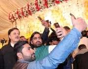 لاہور: پاکستان تحریک انصاف کے رہنما شاہد عمران بھٹی کی شادی کی تقریب ..