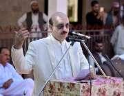 راولا کوٹ :صدر آزادکشمیر سردار مسعودخان تھوراڑ میں منعقدہ تقریب سے ..