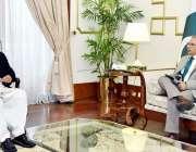 اسلام آباد، صدر مملکت عارف علوی سے وزیراعظم کے مشیر برائے اُمور نوجواناں ..