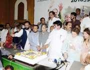 لاہور: مسلم لیگ (ن) کے صدر شہباز شریف کی سالگرہ کے حوالے ماڈل ٹاؤن میں ..