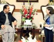 لاہور: وزیراعلی پنجاب سردار عثمان بزدار سے برطانیہ کے بین الاقوامی ..
