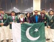 لاہور: ورلڈ سٹرینتھ اینڈ انکلائن بینچ پریس چمپئین شپ میں حصہ لینے والی ..
