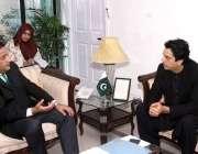 اسلام آباد: وزیراعظم کے معاون خصوصی برائے امور نوجوانان عثمان ڈار اور ..