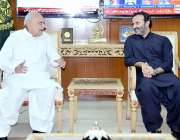 اسلام آباد: وزیر داخلہ اعجاز شاہ سے ایم ڈی پاکستان بیت المال عون عباس ..