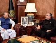 کراچی : صدرمملکت ڈاکٹر عارف علوی سے گورنر سندھ عمران اسماعیل گورنر ..