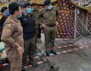 راولپنڈی، سی پی او آر پی او کے ہمراہ پیرودھائی دھماکے کی جائے وقوعہ ..