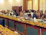 لاہور، صوبائی وزیر قانون راجہ بشارت وزیراعلی ہائوس میں کابینہ کمیٹی ..