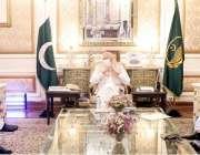 لاہور : گورنر پنجاب چوہدری محمد سرور سے وزیراطلاعات فیاض الحسن چوہان ..