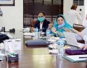 لاہور : صوبائی وزیر صحت ڈاکٹر یاسمین راشد محکمہ سپیشلائزڈ ہیلتھ کیئر ..