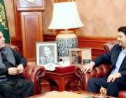 کراچی : گورنرسندھ عمران اسماعیل سے پاکستان تحریک انصاف سندھ کے رہنما ..