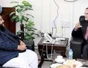 اسلام آباد، وفاقی وزیر ریلوے محمد اعظم خان سواتی سے وزیراعظم کےمشیر ..