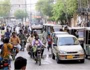 حیدرآباد: لاک ڈاون میں نرمی کے دوران اسٹیشن روڈ پر کاروبار جزوی کھلا ..