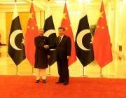 بیجنگ: چینی صدر شی جن پنگ سے ملاقات کے موقع پر صدر مملکت ڈاکٹر عارف علوی ..