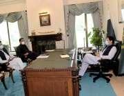 اسلام آباد: وزیراعظم عمران خان سے مشیر برائے ماحولیاتی تبدیلی ملک امین ..